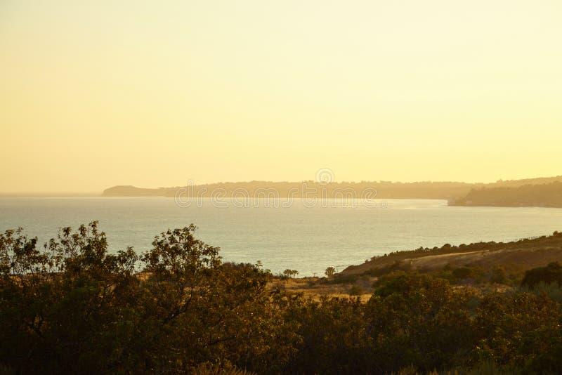 Вид на океан и геология, Malibu, CA стоковое изображение rf