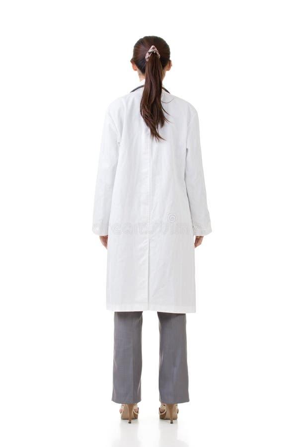 Вид сзади азиатского врача стоковые изображения rf