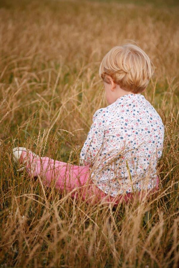 Вид сзади маленькой девочки стоковая фотография rf