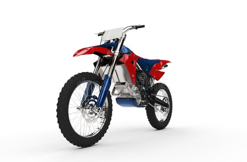 Вид спереди велосипеда грязи красно- стоковая фотография