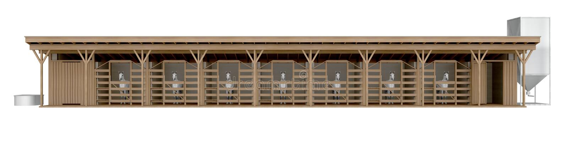 Вид спереди лошади стабилизированное изолированное на белом переводе 3d бесплатная иллюстрация