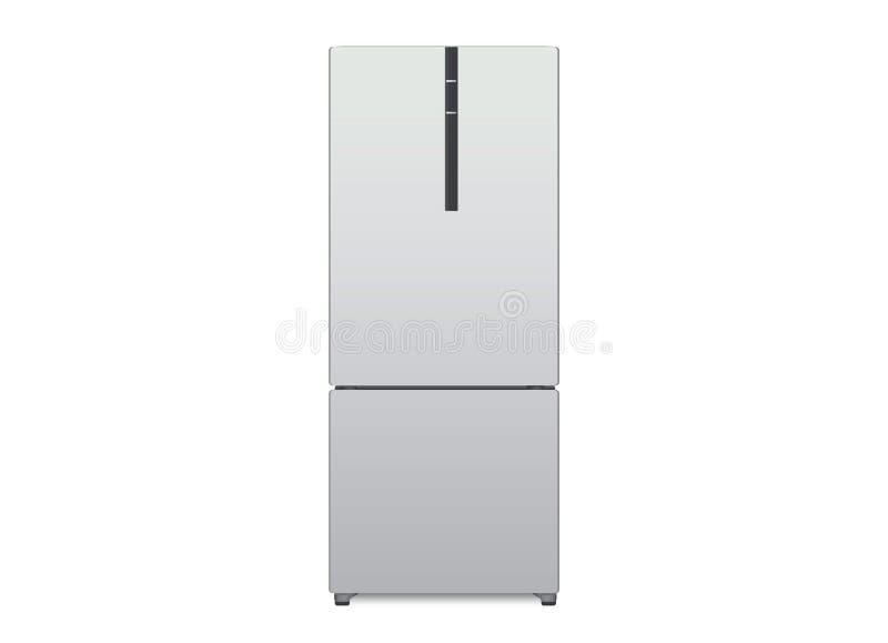 Вид спереди холодильника вектора иллюстрация вектора
