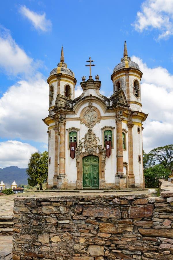 Вид спереди церков Св.а Франциск Св. Франциск Assisi стоковое изображение rf