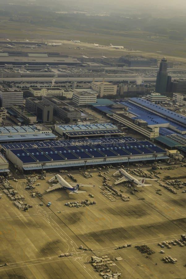 Вид с воздуха авиапорта Narita стоковая фотография