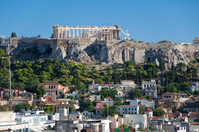 Download Вид с воздуха акрополя Афин. Греция. Стоковое Изображение - изображение насчитывающей parthenon, акрофобии: 37927237