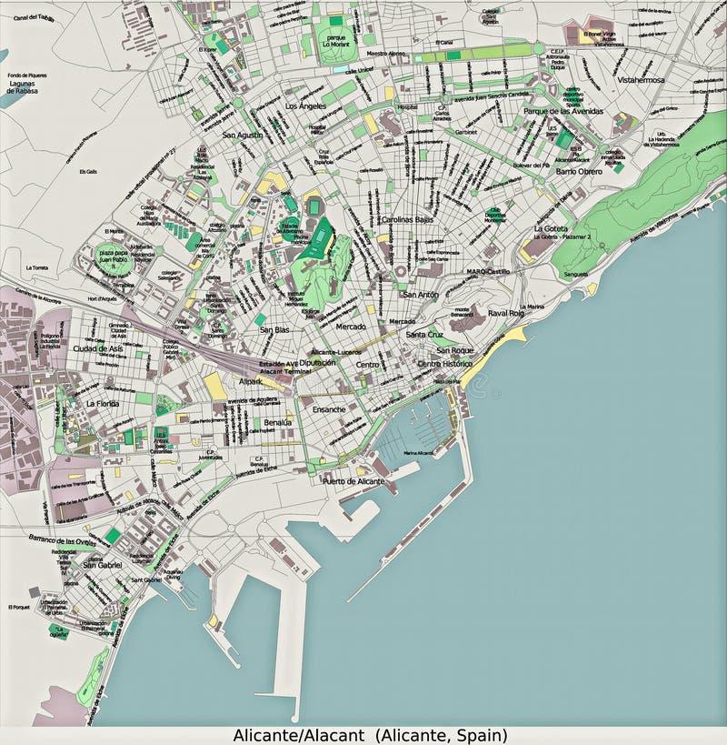 Вид с воздуха Аликанте Испании Европы высокий res бесплатная иллюстрация