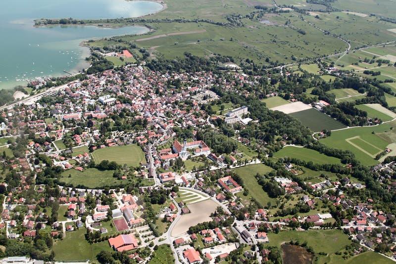 Вид с воздуха Баварии стоковые фото