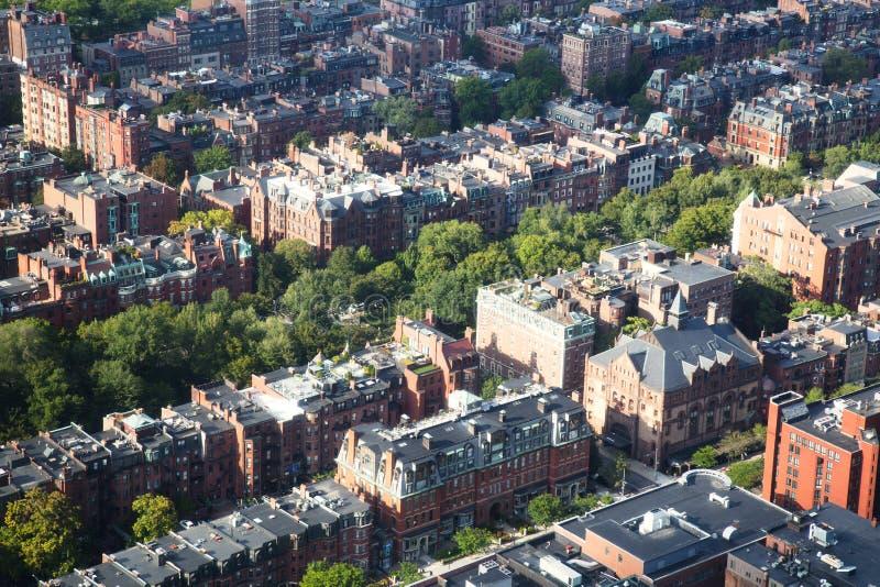 Вид с воздуха Бостона стоковые фотографии rf