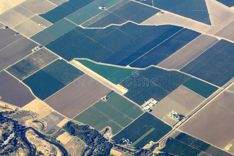 Вид с воздуха Великие равнины стоковые изображения