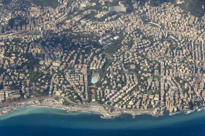 Вид с воздуха Генуи стоковое изображение rf