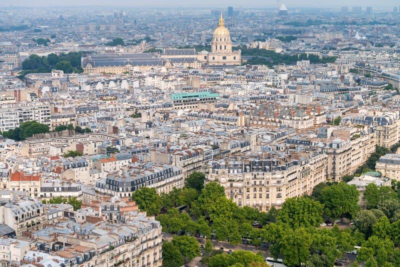 Вид с воздуха горизонта Парижа стоковое фото rf
