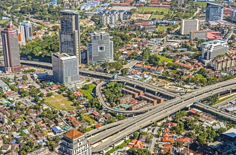 Вид с воздуха города Куалаа-Лумпур стоковое фото