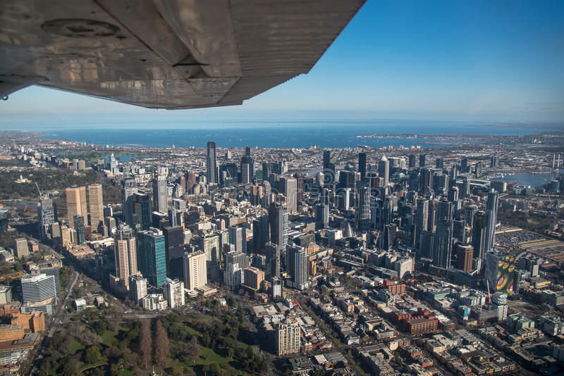 Вид с воздуха города Мельбурна, Австралии стоковое фото