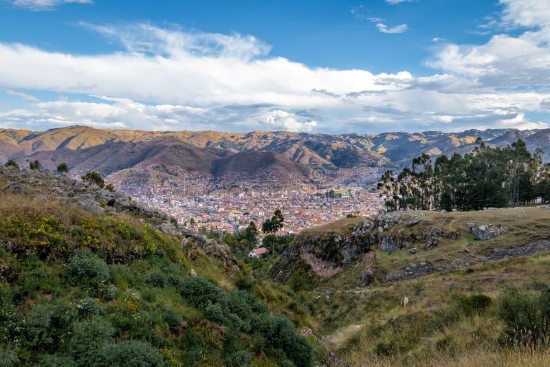 Вид с воздуха города Cusco - Cusco, Перу стоковое изображение rf