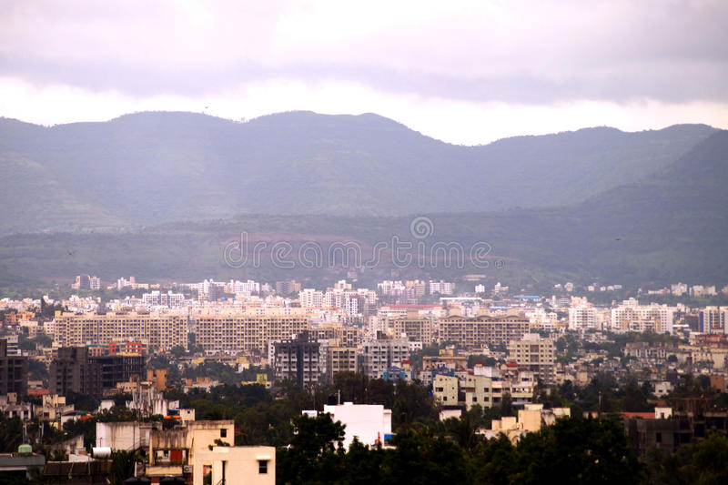 Вид с воздуха города pune стоковое фото