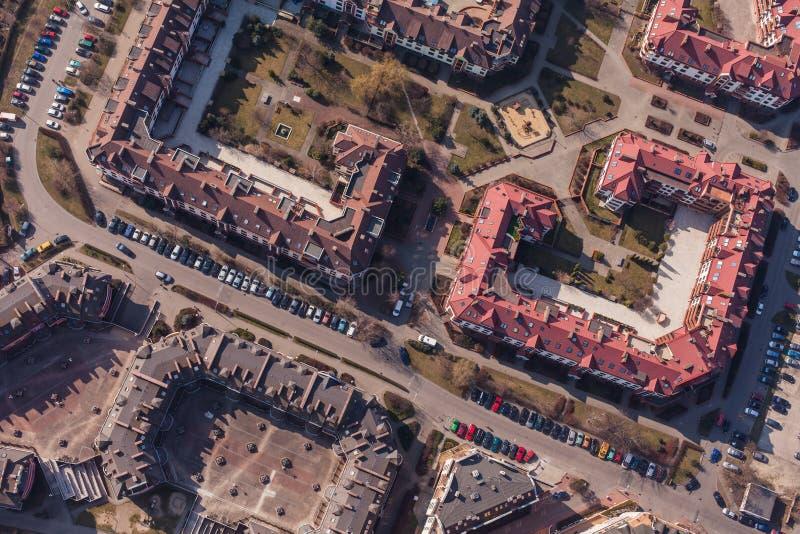 Вид с воздуха города wroclaw в Польше стоковые изображения