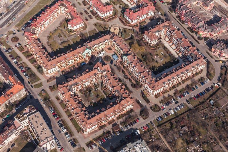 Вид с воздуха города wroclaw в Польше стоковые изображения rf