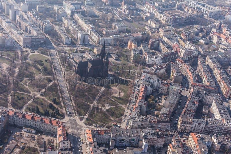 Вид с воздуха города wroclaw в Польше стоковое изображение