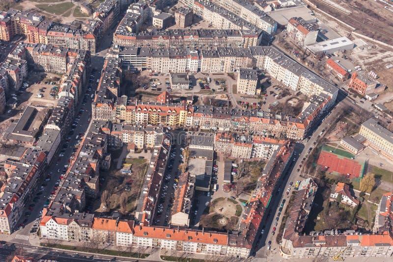 Вид с воздуха города wroclaw в Польше стоковое фото rf