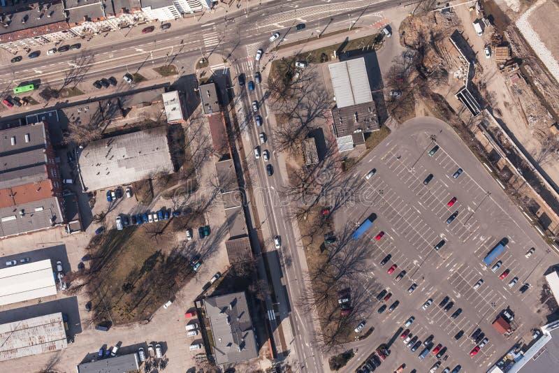 Вид с воздуха города wroclaw в Польше стоковая фотография