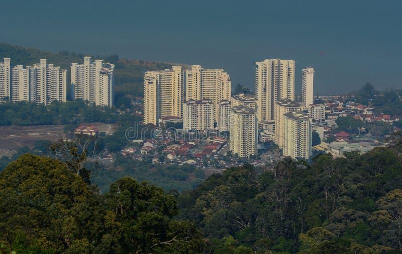Вид с воздуха городка Джордж в Penang, Малайзии стоковое изображение rf