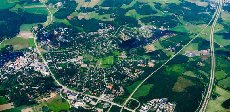 Вид с воздуха глуши стоковые изображения