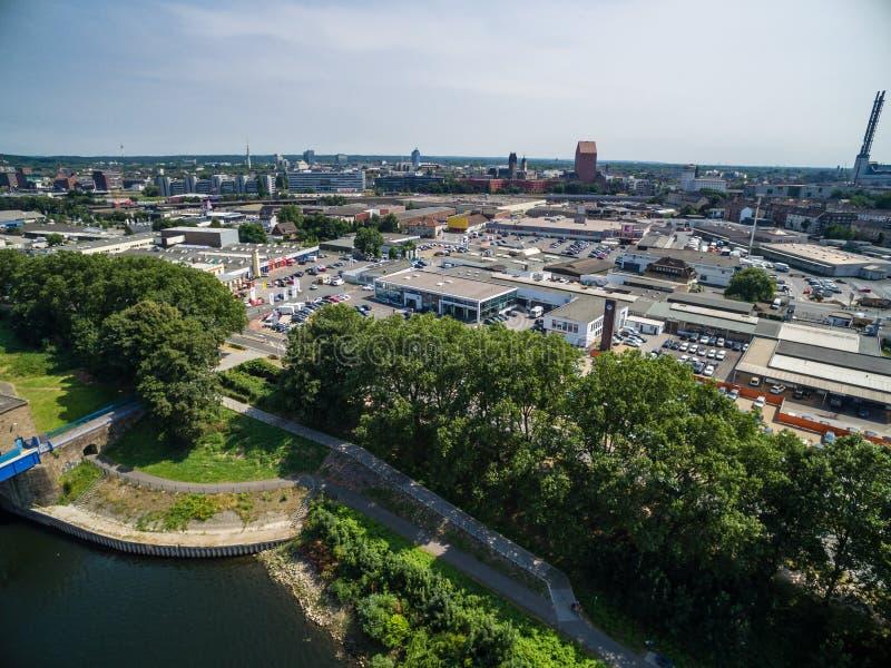 Вид с воздуха Дуйсбурга стоковые фотографии rf
