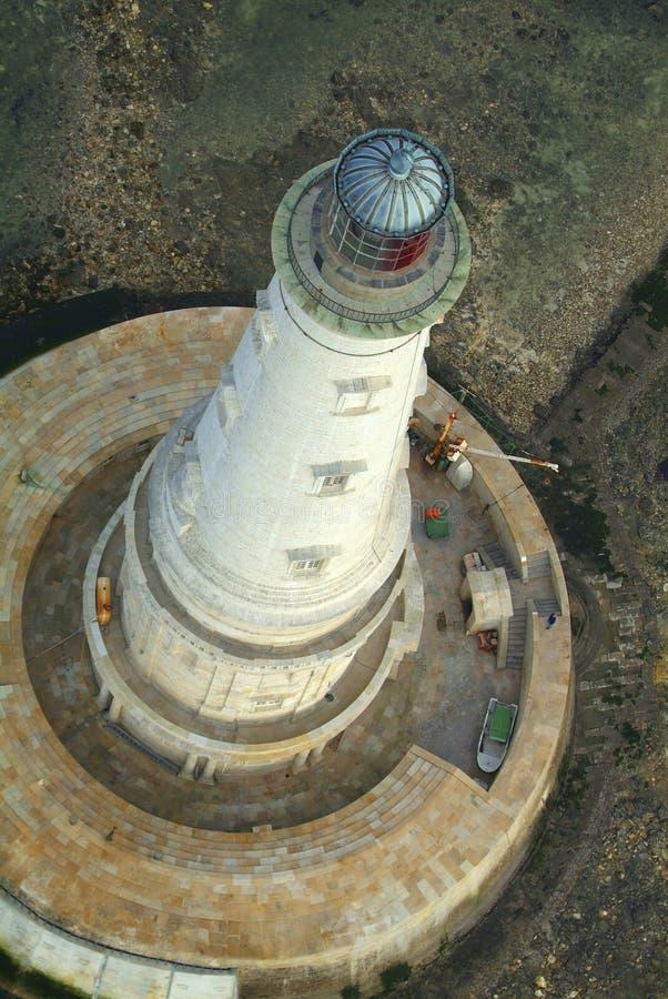 Вид с воздуха, исторический маяк Cordouan, лимана Жиронды стоковая фотография rf