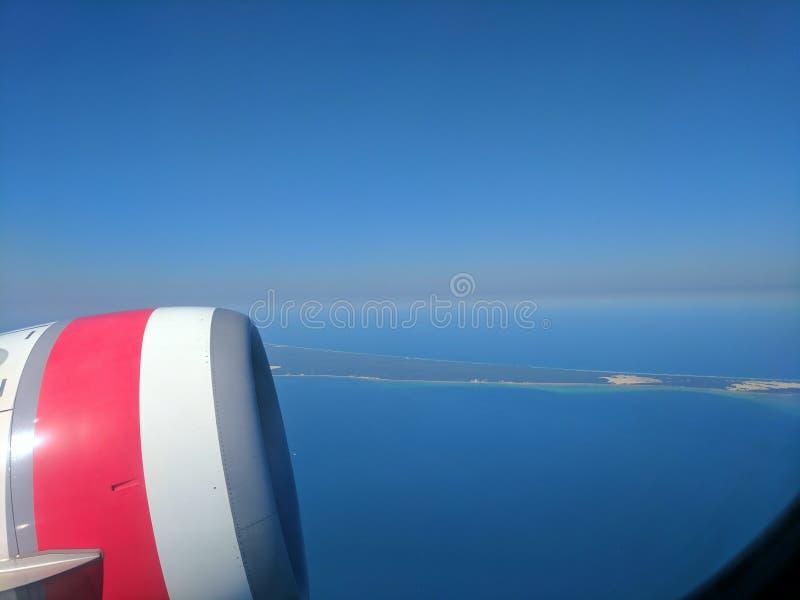 Вид с воздуха Квинсленд Австралия Брисбен острова Moreton стоковая фотография rf