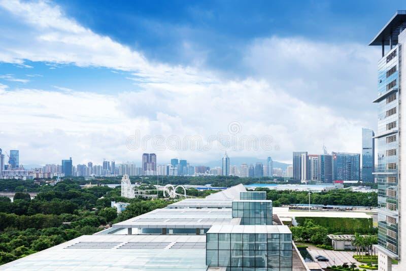 Вид с воздуха китайского города стоковые фото