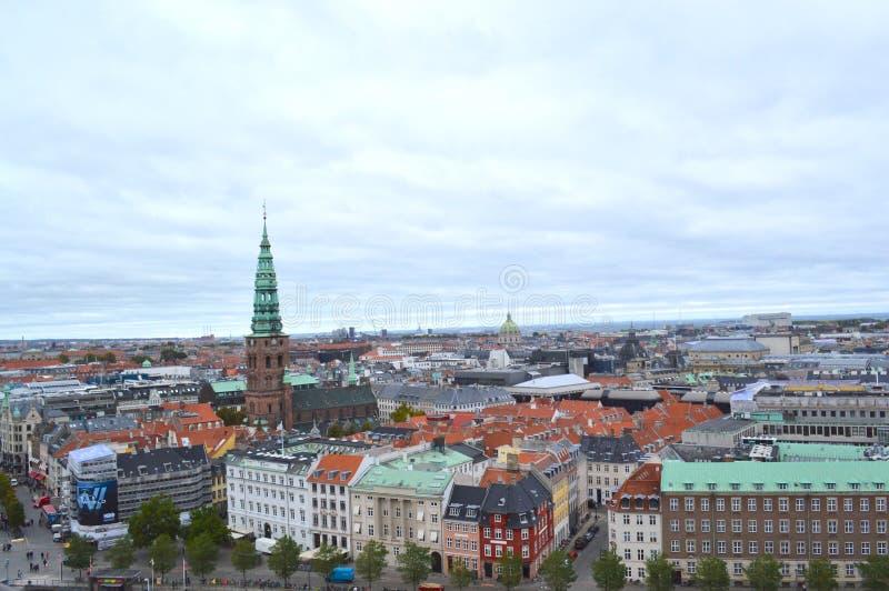 Вид с воздуха Копенгагена стоковое фото rf