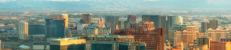 Вид с воздуха Лас-Вегас в Неваде США стоковые фото