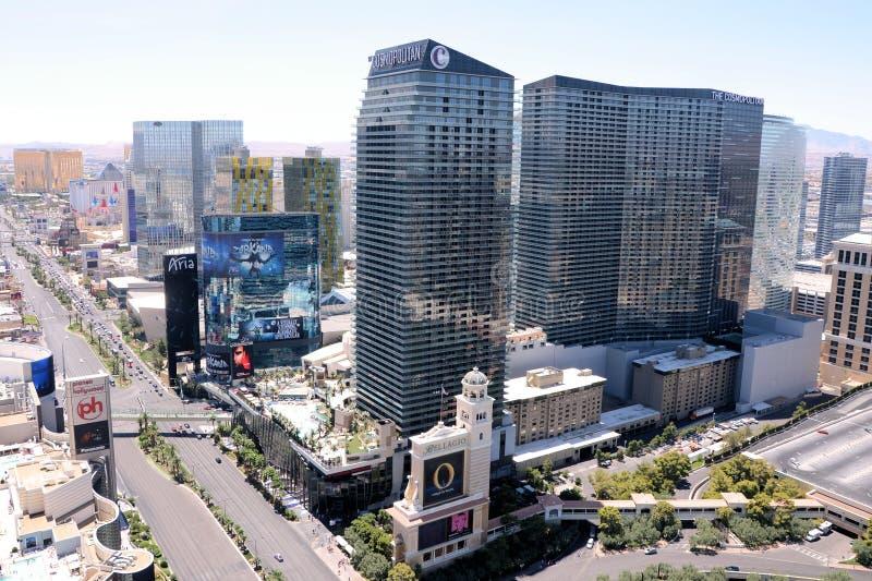 Вид с воздуха Лас-Вегас стоковое изображение rf