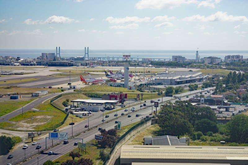 Вид с воздуха Лиссабона, столица Португалии стоковое изображение rf