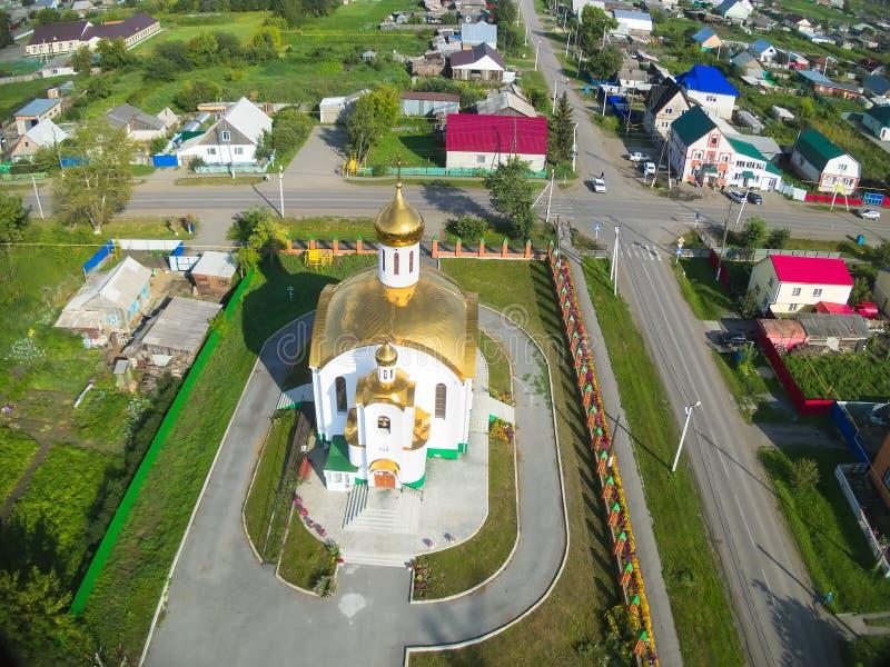 Вид с воздуха на виске в честь восхождения, стоковые изображения rf