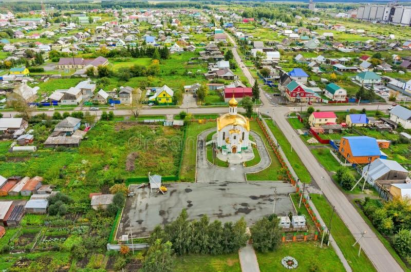 Вид с воздуха на виске в честь восхождения стоковые изображения rf