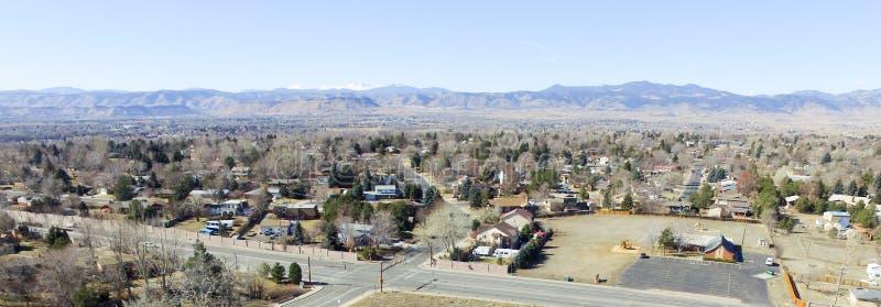 Вид с воздуха над Денвером Колорадо стоковое фото