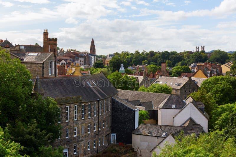 Вид с воздуха над деканом Деревней, Эдинбургом стоковое изображение