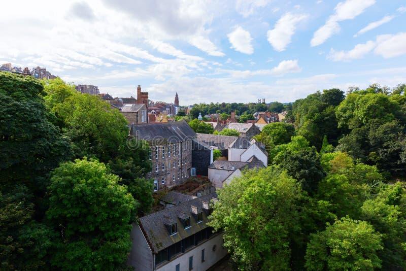 Вид с воздуха над деканом Деревней, Эдинбургом стоковая фотография