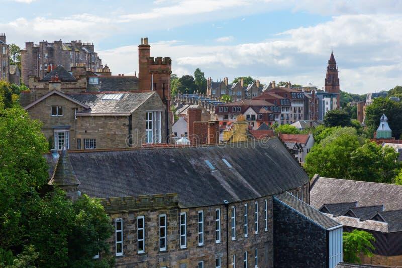 Вид с воздуха над деканом Деревней, Эдинбургом стоковые изображения rf