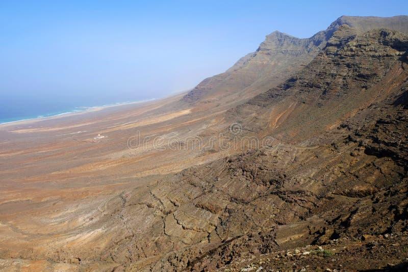 Вид с воздуха на пляже Cofete fuerteventura Испания стоковое изображение