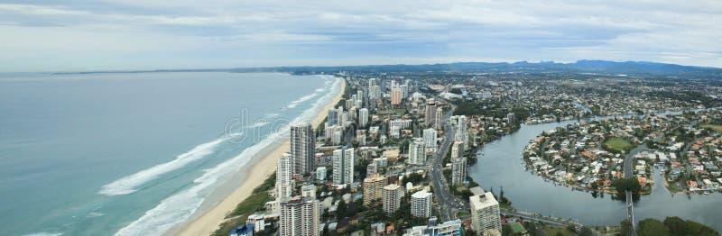 Вид с воздуха на Gold Coast стоковое фото rf