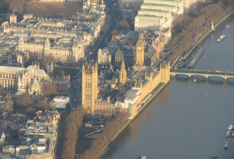 Вид с воздуха домов парламента стоковое фото