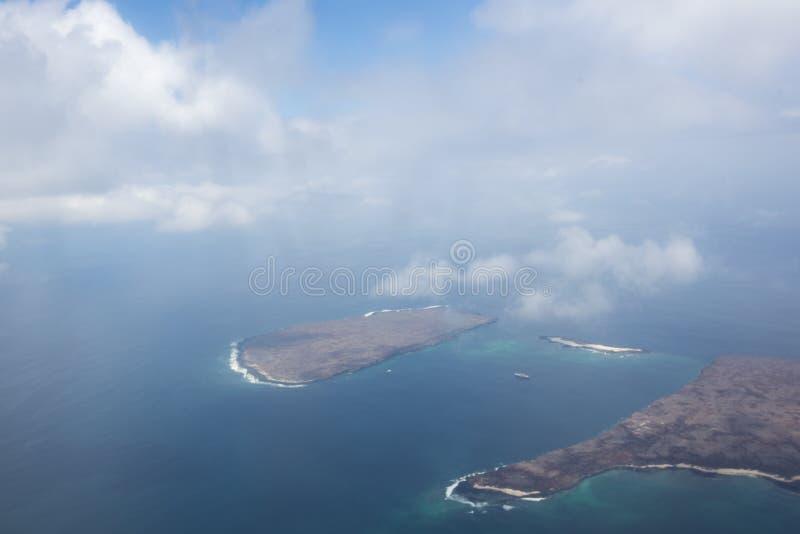 Вид с воздуха островов Галапагос, эквадора стоковая фотография rf