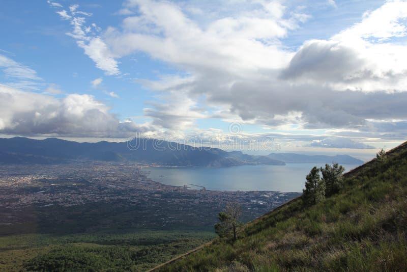 Вид с воздуха от Vesuvius стоковые изображения