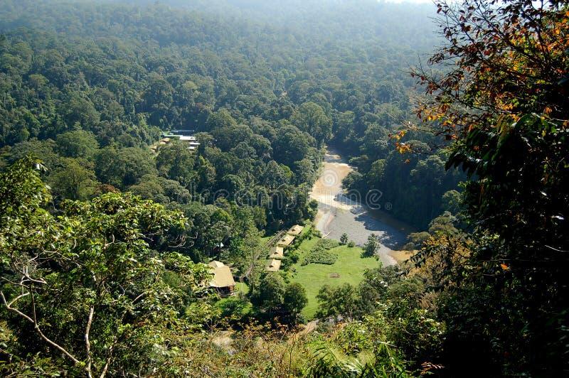 Вид с воздуха долины Сабаха Борнео Danum стоковая фотография rf