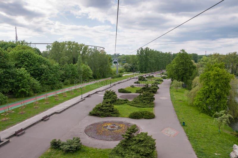 Вид с воздуха парка Силезии в Chorzow стоковая фотография