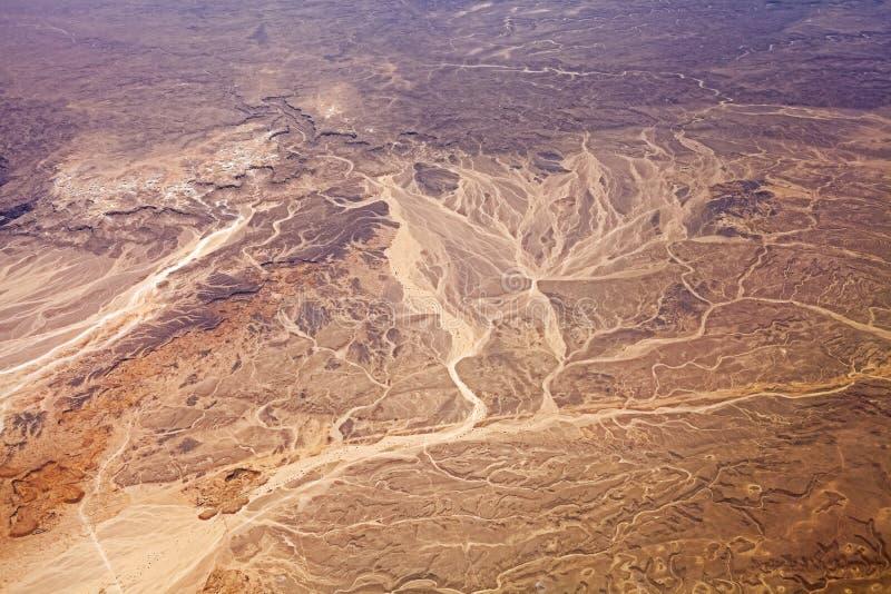 Вид с воздуха пустыни, предпосылки природы стоковая фотография