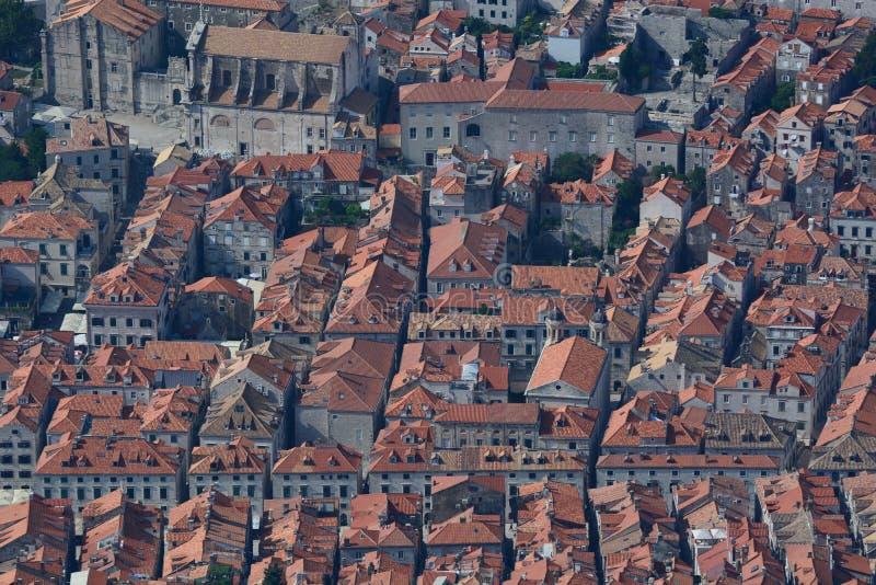 Вид с воздуха старого городка dubrovnik Хорватия стоковое изображение