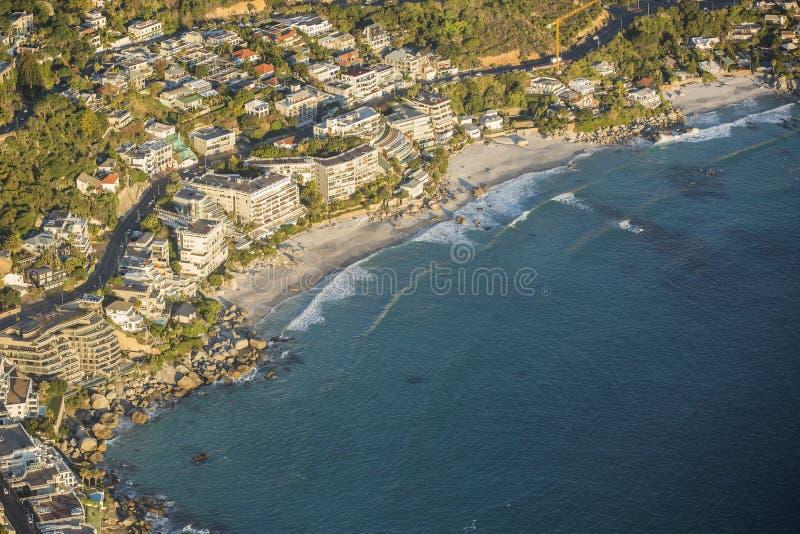 Вид с воздуха стадиона Южной Африки Кейптауна стоковые изображения